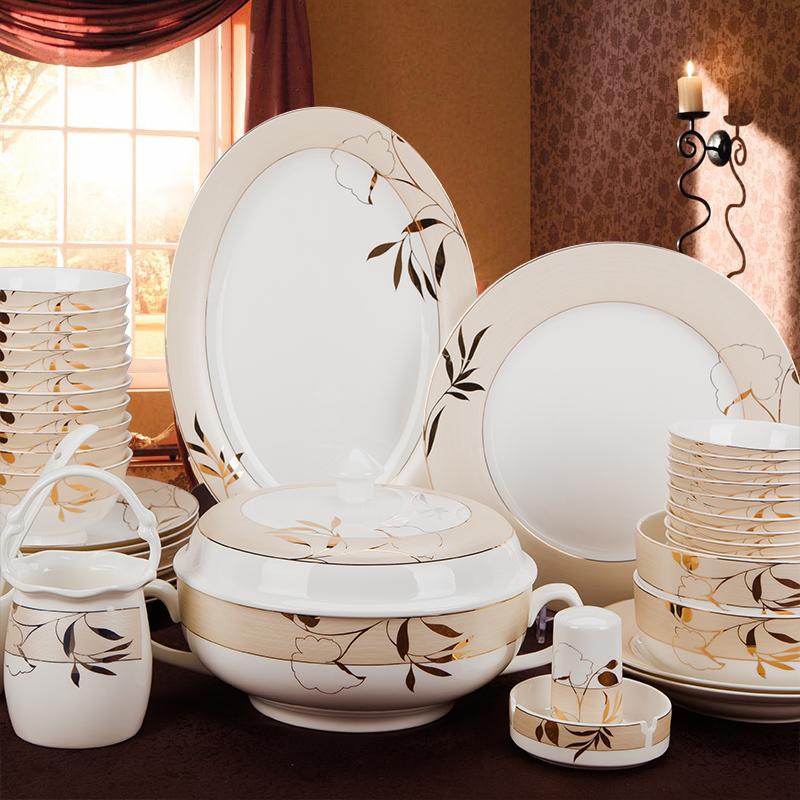 正品骨瓷 60头维多利亚 欧式 餐具