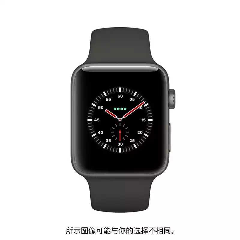 Apple/苹果 灰色精密陶瓷表壳搭配灰配黑色运动型表带