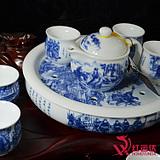 景德镇红运达 陶瓷双层防烫釉中骨瓷茶具 茶壶 大盘茶具 茶杯
