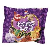 统一100老坛酸菜牛肉袋面118g