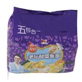 统一老坛酸菜鱼五联袋面118g*5