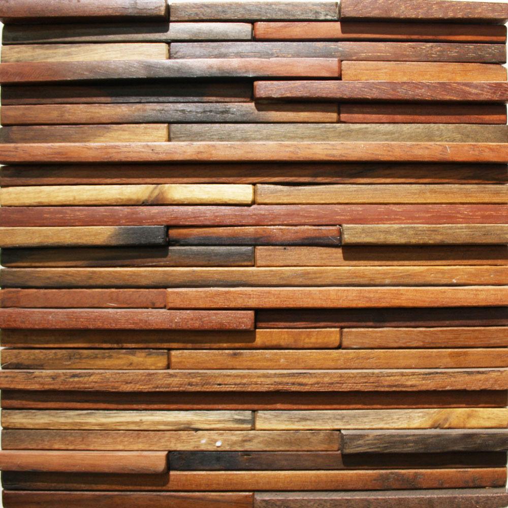 古船木马赛克背景墙地中海酒吧电视玄关背景复古实木材料家装建材