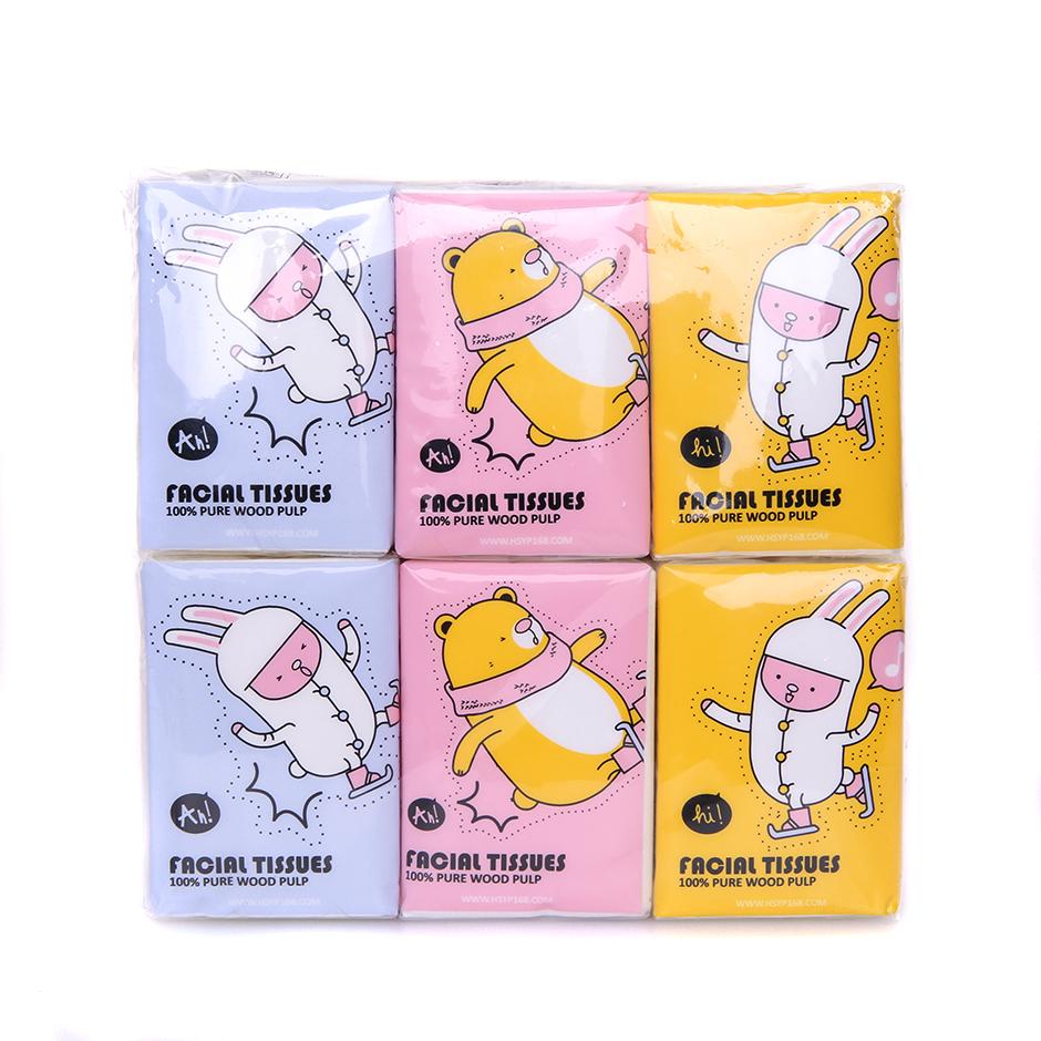 韩尚卡通18包可湿水迷你巾