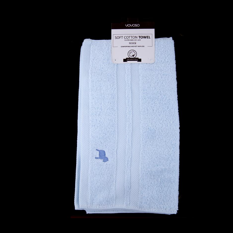 缎档刺绣毛巾(蓝色)