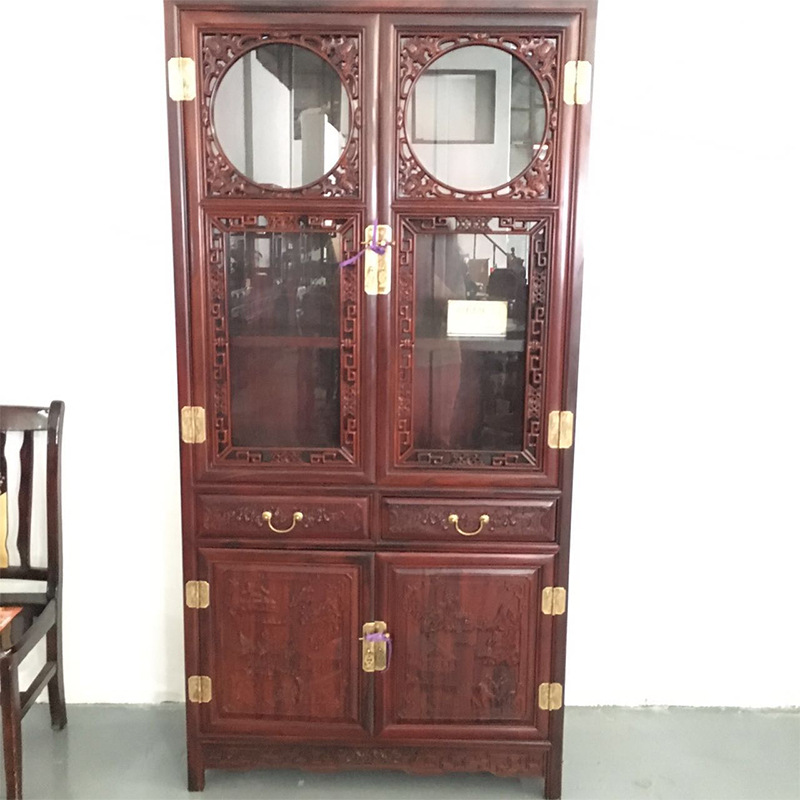 广州福满堂南美酸枝红木家具 实木家具 红木书柜厂家直销