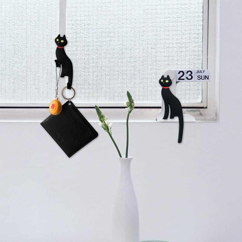 创意磁铁卡通猫尾巴挂钩冰箱贴 装饰磁贴家居小饰品 日用家居