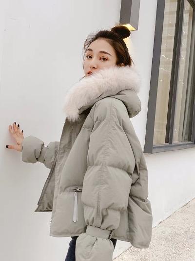 短款棉衣女2018新款冬装韩版宽松面包服chic羽绒棉服毛领外套棉袄