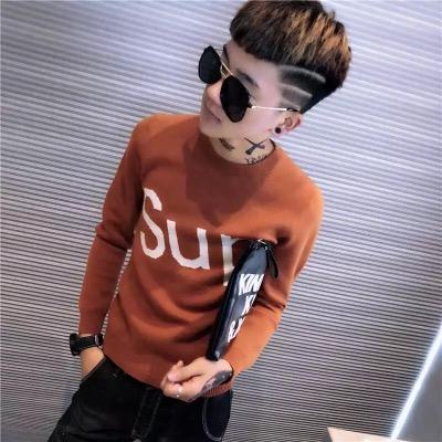 秋男士长袖T恤韩版社会精神小伙快手红人网红同款衣服卫衣毛衣潮