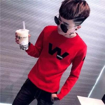 秋男士长袖T恤韩版社会精神小伙快手红人网红同款卫衣秋装衣服潮