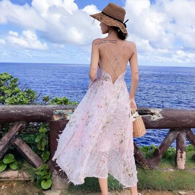 马尔代夫普吉岛沙滩裙泰国超仙三亚海边度假连衣裙仙女裙chic温柔