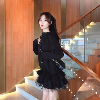 卫衣连衣裙法国小众连衣裙复古维多利亚复古裙秋很仙的连衣裙秋冬